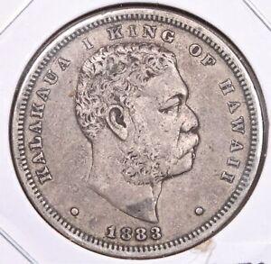 Kingdom of Hawaii 1883 Silver Half Dollar Nice Original T62