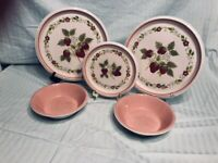 Mikasa Country Store Berry Patch & Pink Dishes Mixed Lot Mid-Century Modern