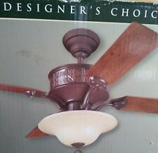 Hunter 52 In Canterbury Brittany Bronze brush copper belly Ceiling Fan 4 Blades
