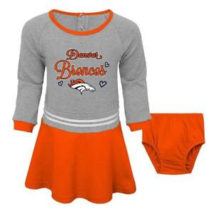 Denver Broncos NFL Toddler Girls' Orange Dress & Diaper Cover Size 4T - NWT