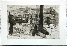 """DDR-arte. """"gambe come alberi"""", 1987. Bernd ciminiera Hauer (* 1952 d), firmato a mano"""