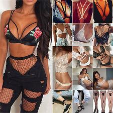 Women's Bandage Bra Lingerie Nightwear Underwear Sleepwear Babydoll G-string Set