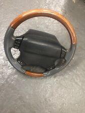 Lot10 RANGE ROVER P38 Steering Wheel Wood Walnut Grey Leather