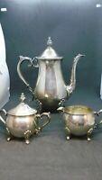 3pc Vintage Leonard Silver Plate Tea Set