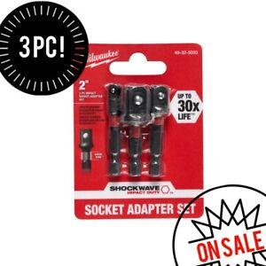 Shockwave impact duty 1/4 in. hex shank socket adapter set (3-piece) USA 🇺🇸