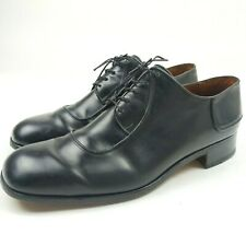 Bally Mens Shoes Size 9 C Black Black Oxford Lace-Up Made In Italy