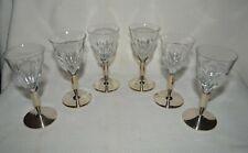 1930's Set of (6) Vintage Bohemian Cut Glass Liqueur Glasses Moser Style