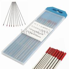 10pcs Size 1.6mm / 2.4mm X 150mm 2 Thoriated Wt20 Red TIG Tungsten Electrode
