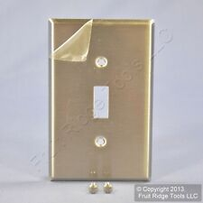 Leviton NON-MAG Midway Stainless Steel 1G Toggle Switch Wallplate Cover SSJ1-40