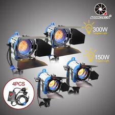 As Arri Pro Film(150W+300W)*2+Dimmers*4 Fresnel Tungsten Spotlight Lighting