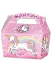 10 x Unicorn Treat Boxes Cupcake Gift Party Loot Bag Children Birthday SB130