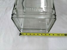 Vintage Delco Type Clear Glass Lead Battery Jar C-17 2