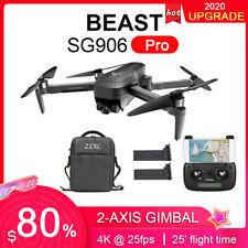 SG906 PRO GPS RC Drone 4K 5G Wifi a 2 assi Gimbal con BORSA +2-batteria M2A0