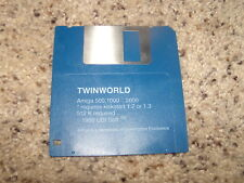 """Twinworld for the Commodore Amiga 3.5"""" floppy disk"""