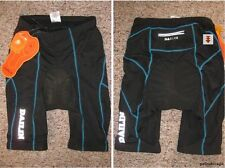 New MEN's  CYCLING SHORTS Size L (Black with Darker Blue Line)