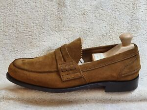 Church's mens Slip On shoes NEW Suede Brown UK 7/8 EUR 41/42