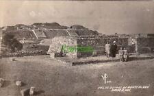 Postcard RPPC En Las Ruinas de Monte Alban Oaxaca Mexico