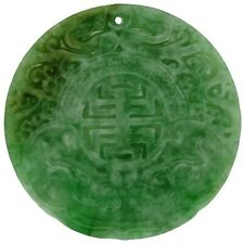 Fine Vintage/Antique Carved A Jadeite Amulet Green Untreated