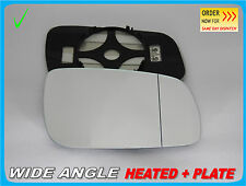 Wing Mirror Glass For SEAT TOLEDO II 1998-2004 Wide Angle HEATED Right Side#1016