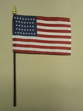 "U.S. United States 37 Star 1867 - 1877 Historical Miniature Desk Flag 4"" X 6"""