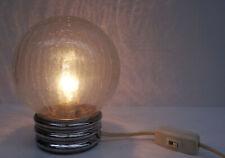 vintage 70s - Designer Lampe Hillebrand Leuchten Krakeleeglas Tischlampe 70er