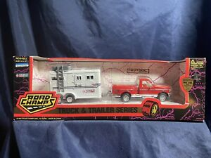 NEW! Road Champs Truck & trailer Series Ford F-150 & Horse Trailer Vintage 1995