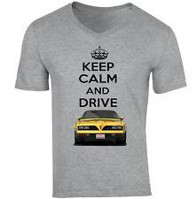 Pontiac FIREBIRD FORMULA 1977 KEEP CALM-New cotone grigio V-Neck T-shirt