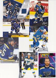 2011-12 Upper Deck Game Jersey CHRIS STEWART + bonus 6 St. Louis BLUES cards!!