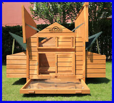 LARGE DELUXE CHICKEN COOP HEN POULTRY HOUSE RABBIT HUTCH RUN NEST