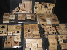 Lot of 13 Stampin Up Sets 79 Rubber Stamps Coupons Harvest Japanese Flowers More