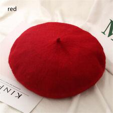 Women Girls French Wool Beret Cap Autumn Beret Hat Flat Cap Hat Felt Berets