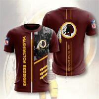 Washington Redskins Football Short Sleeve T-Shirt Men's Athletic Crew Neck Shirt