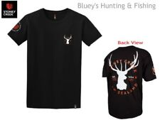 Stoney Creek Mens Black Est 1994 White Stag Patch Hunting T-shirt 7405 XL