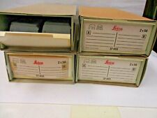 Leica straight slide trays 2x50.total of 8 trays new old stock