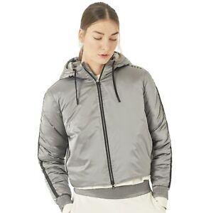 Oakley Womens Luxe Nylon Puffy Jacket - Stone Grey - Pick a Size