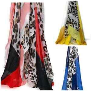 Ladies Leopard Print Scarf Animal Print Womens Long Large Lightweight Summer