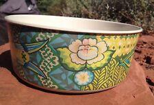 "Bio Bamboo Fiber bowl Mixing bowl 8.5"" x 3.25"" Indian style blue yellow green fi"