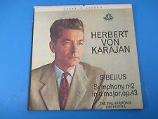 Herbert von Karajan Sibelius Symphony No 2 in D Major Op 43 Album LP Vinyl 35891