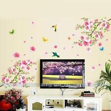 Blossom Flower Butterfly Birds Removable Wall Stickers Decal Art Mural DIY Decor