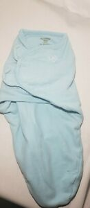 Granimals Blue Baby Boy Swaddle Wrap Sm/Med 7-14lbs Hook and Loop 100% Cotton
