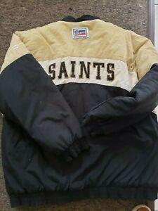 VG VTG  New Orleans Saints Pro Line Reebok Pull Over Winter Jacket Coat NFL XL