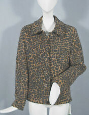 NEW! Geiger Austria Boiled Wool Jacket (Coat)!  8 e 38  *Animal Print*
