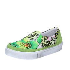 scarpe donna 2 STAR 40 slip on verde tessuto camoscio BZ531-F