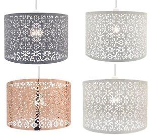Metal Pendant Laser Cut Chandelier Table Ceiling Light Shade New Large Marrakech