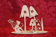 MDF Wooden Wooden Fairy garden freestanding laser cut scene craft decoration ...