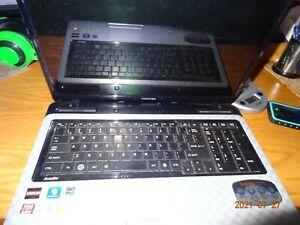"Toshiba Satellite L755D 18"" Laptop AMD - Quad Core 640GB Win-7 - Untested"