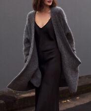 Zara studio navy blue silk feel Lingerie Strappy DRESS serico Abito size M L