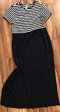 Jones New York Sport Women's Navy Blue White Striped Dress Sz S Small Cotton