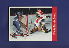 "Plante Stands Guard 1994-95 Parkhurst Hockey ""56-57"" Reprint #161"