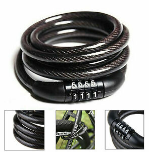 Combination Number Code Bike Bicycle Cycle Lock 8mm x 1 Metre Steel Cable
